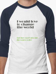 change the world Men's Baseball ¾ T-Shirt