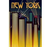 New York Travel Poster Photographic Print