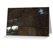 One Rainy October Night Greeting Card