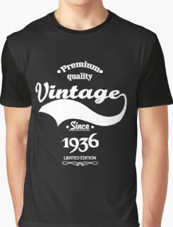 Premium Quality Vintage Since 1936 Limited Edition Graphic T-Shirt