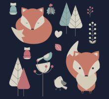 Baby fox pattern 01 Kids Tee