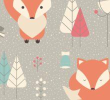 Baby fox pattern 01 Sticker