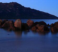 pre sunrise, the hazards. tasmania, australia  by tim buckley | bodhiimages
