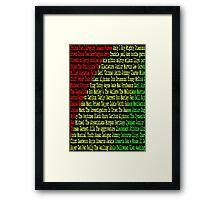 Reggae Artist - Roll Call Framed Print