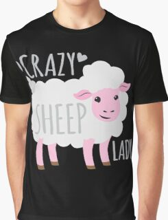 Crazy Sheep Lady Graphic T-Shirt