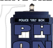 The Angels Have the Phonebox | Doctor Who Sticker