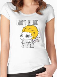Blink and ur ded. Women's Fitted Scoop T-Shirt