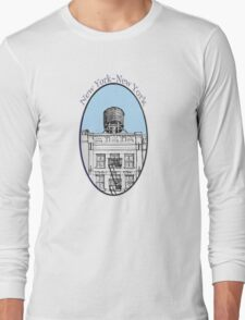 NYC-Water tower above SoHo building Long Sleeve T-Shirt