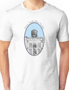NYC-Water tower above SoHo building Unisex T-Shirt