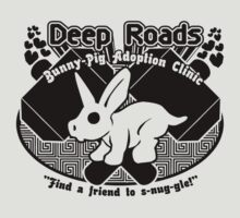 Deep Roads Bunny-Pig Adoption Clinic T-Shirt
