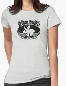 Deep Roads Bunny-Pig Adoption Clinic Womens Fitted T-Shirt