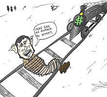 President Mahmoud Ahmedinanad caricature by Binary-Options