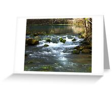 Alley Springs Small Waterfall Greeting Card