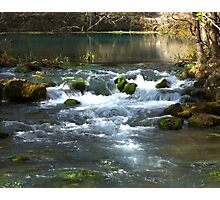 Alley Springs Small Waterfall Photographic Print