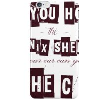 Can you hear the C ??? iPhone Case/Skin
