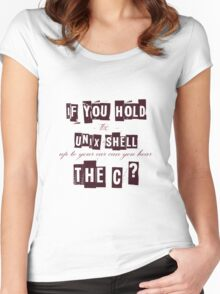 Can you hear the C ??? Women's Fitted Scoop T-Shirt