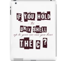 Can you hear the C ??? iPad Case/Skin