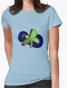 Computer Bug Womens Fitted T-Shirt
