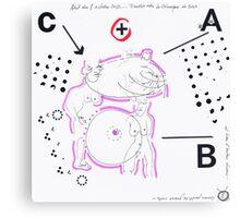 Night Drawings #75 - Breast ? Canvas Print
