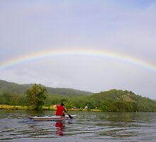 Paddling to the Rainbow's end by valdez