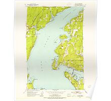 USGS Topo Map Washington State WA Sylvan 244150 1953 24000 Poster