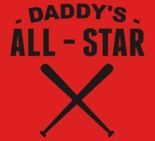 Daddy's All-Star Baseball Baby Tee