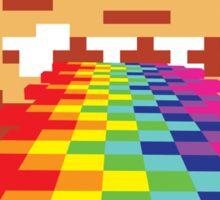 8 Bit Donkey Kong Rainbow Sticker