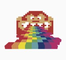 8 Bit Donkey Kong Rainbow One Piece - Long Sleeve