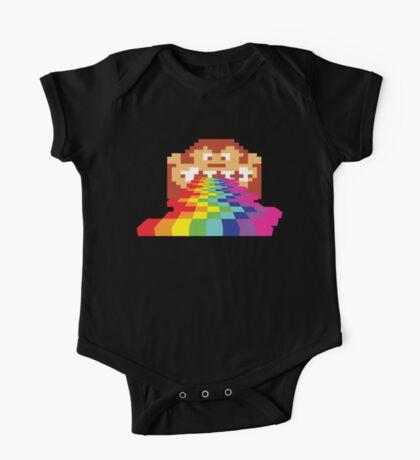 8 Bit Donkey Kong Rainbow One Piece - Short Sleeve
