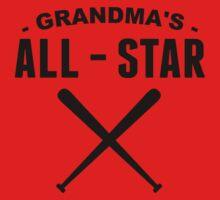 Grandma's All-Star Baseball One Piece - Short Sleeve