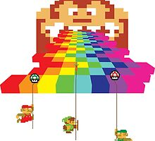 8 Bit Nintendo Rainbow by CopeStarr