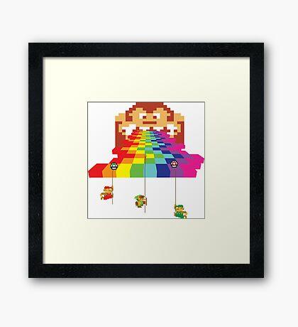 8 Bit Nintendo Rainbow Framed Print