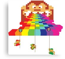 8 Bit Nintendo Rainbow Canvas Print