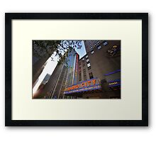 Radio City New York Framed Print