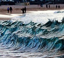 Waves at Bondi, New South Wales, Australia by Sharpeyeimages