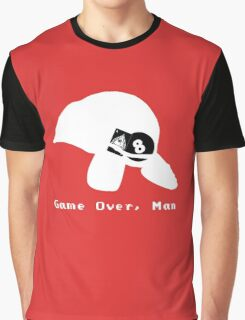 Game Over, Man - White Graphic T-Shirt