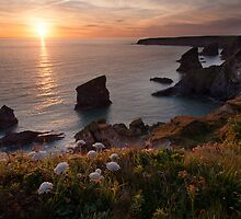 Bedruthan Sunset by Christopher Cullen