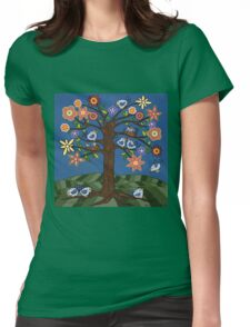 BIRDIE TREE T-SHIRT Womens Fitted T-Shirt