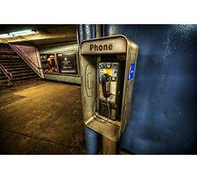 NYC Subway Phone Photographic Print