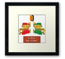 8-Bit Hi-Five Framed Print