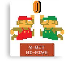 8-Bit Hi-Five Canvas Print