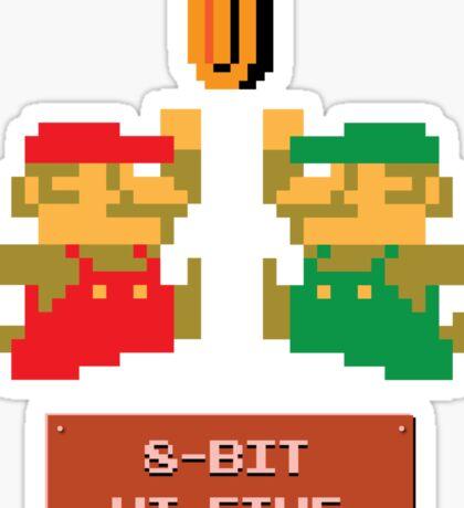 8-Bit Hi-Five Sticker