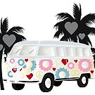 Cut-out of Splitty with palms by schtroumpf2510
