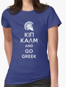 Keep calm and go Greek Womens Fitted T-Shirt