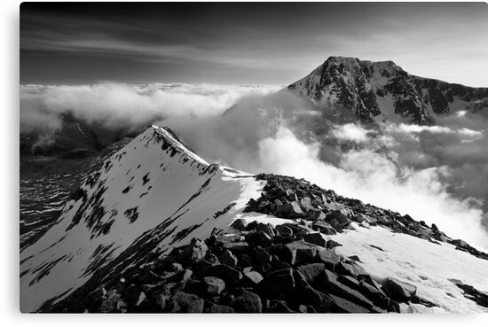 Ben Nevis and the Carn Mor Dearg arête, Scotland. by Justin Foulkes