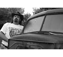Me and a 47 Ford (self portrait) Photographic Print