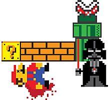 Mario v Vader : 8-Bit Battles Photographic Print