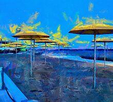 HTO Park Toronto - Umbrellas on the Beach by DiNovici