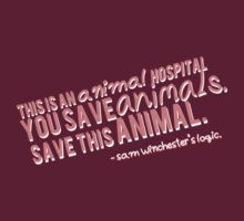Save the animals, Sam Winchester's logic. by saltnburn