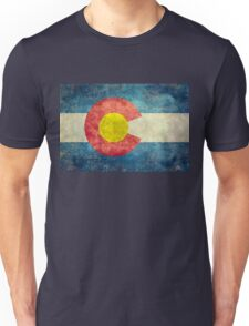 Colorado State Flag with vintage retro style treatment Unisex T-Shirt